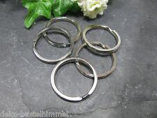 5 Schlüsselringe 3 cm, Farbe silber,  für Schlüsselanhänger und Taschenhänger