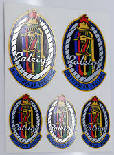 Raleigh Multicolor Garza Estilo Clásico Cabeza Insignia Bicicleta Adhesivos