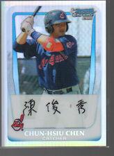 CHUN-HSIU CHEN 2011 BOWMAN CHROME PROSPECTS REFRACTOR ROOKIE CARD #26  /799