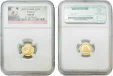 China 2002 Panda 20 Yuan 1/20 oz Gold Coin NGC MS-69