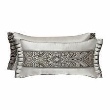 J. Queen New York Chancellor Boudoir Decorative Throw Pillow in Metallic Silver