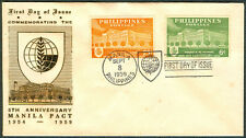 1959 Phil COMMEMORATING THE 5TH ANNIVERSARY MANILA PACT First Day Cover - C