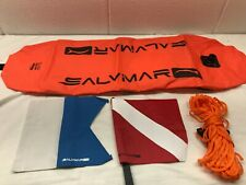 Maverick Salvimar Torpedo Float with 2 flags and 65ft rope buoy dive diving