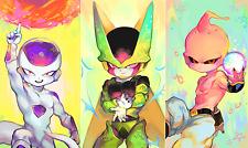 Poster 42x24 cm Dragon Ball Frezzer Celula Majin Buu 01