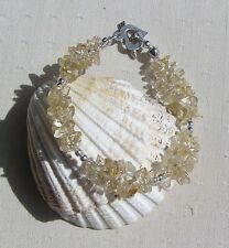 "Yellow Citrine Crystal Gemstone Charka Bracelet ""Sunflower"""
