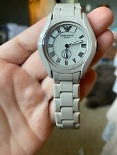 Emporio Armani AR1461 Grey Ceramic Petite Womens Watch - Never Worn