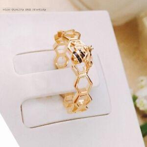 Original 100% S925 Sterling Silver Gold, Honeybee Ring, Shine & Black Enamel 🕊