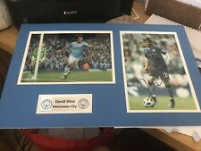 More details for david silva man city signed photo will be framed with certificate freedelivery *