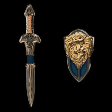 Warcraft LOTHAR Shield and Sword Double Pin Set Weta Collectibles World of NEW