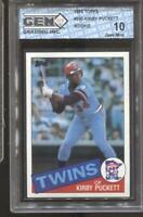 1985 Kirby Puckett Topps #536 RC Rookie Gem Mint 10 Minnesota Twins