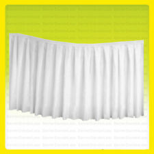 "(No Top) 14 ft x 29"" Table Skirt Tablecloth Wedding Party Polyester Linens WHITE"