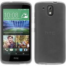 Silikon Hülle für HTC Desire 526G+ weiß transparent + 2 Schutzfolien