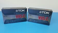 2 TDK VHS-C 30Min Superior High Grade For All VHS-C Camcorders Video Cassette