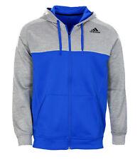 Adidas Team Issue Fleece Block Hoodie Climawarm Kapuzenjacke grau blau Gr. L