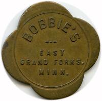 Bobbie's East Grand Forks, Minnesota MN 25¢ At Bar Only Trade Token