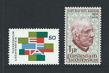 1967 LIECHENSTEIN Free Trade Association & Buchel MNH (Scott 425,429)