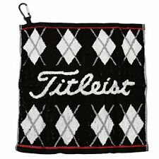 Titleist Japan Golf JAPAN Hand Towel with hook Black AJTWH51 W34xH35cm JAPAN