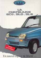 CHATENET ECO SLD SLB Kleinwagen Prospekt Brochure 24x33cm 59