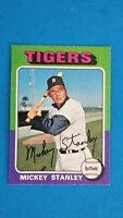 1975 TOPPS BASEBALL #141 MICKEY STANLEY TIGERS EXMT+