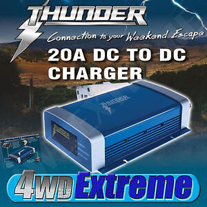 NEW Thunder 20A DC to DC MPPT 300w Smart Battery Charger Solar TDR02020 DUAL