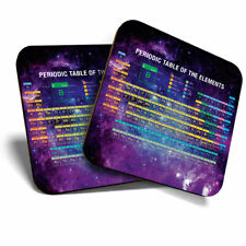 2 x Coasters - Space Periodic Table Science Chemistry Home Gift #8363
