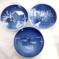 3 Bing & Grondahl Christmas Plates ~ 1966 1967 1968