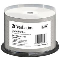 Verbatim DVD+R DL 8.5GB 8X DataLifePlus White Thermal Printable, Hub Printable -