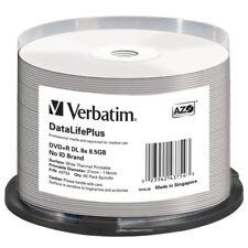 Verbatim DVD+R DL 8.5GB 8X DataLifePlus White Thermal Printable, Hub Printable -