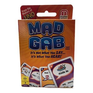 2012 Mattel Games MAD CAB Card Game Sealed From The Makers of UNO