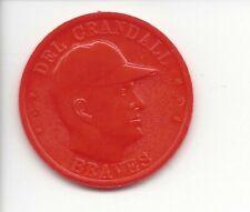 1959 Armour Coins Del Crandall Braves Orange