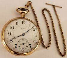 """Antique Working 1917 ILLINOIS """"Hopkins"""" Private Label 21J Gold G.F. Pocket Watch"""