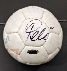 Pele Brazil Autographed Signed Soccer Ball (Size 1) COA