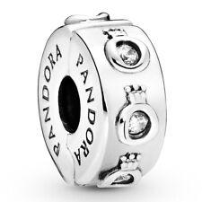 PANDORA Charm Clip Element 798326 CZ Crown O Silber Bead