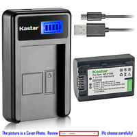 Kastar Battery LCD Charger for Sony NP-FV50 & Sony HDR-CX130 HDR-CX150 HDR-CX155