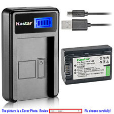 Kastar Battery LCD Charger for Sony NP-FV50 & Sony DCR-SX15 DCR-SX20 DCR-SX21