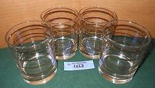 4 Vintage George Briard Mcm Hollywood Regency Glass Tumblers Gold