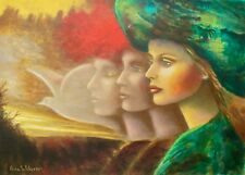 """RINA SUTZKEVER """"DREAMS OF PEACE"""" Hand Signed Limited Edition Serigraph on Canvas"""