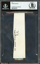 President Ronald Reagan Signed Cut Signature Autographed Beckett BAS AUTO