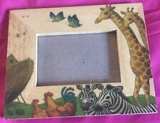 Giraffe Jungle Safari Nursery Baby Zebra Rooster Turtles Noah's Ark Bible #DF
