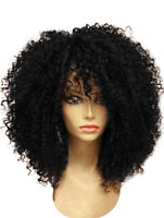 UK Hot Synthetic Short Afro Kinky Curly Wavy Hair Cosplay Wig Party Costume Wigs