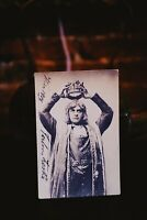 Silent Film Actor Carl Von Zeska Autographed Photo Postcard