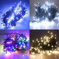 10M 100 LEDs 8 Modi Weihnachten Baum Geburtstag Party Lichterkette Kette Leuchte