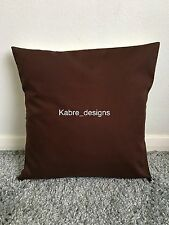 """1 NEW 20"""" PLAIN BROWN COTTON CUSHION COVER OTHER COLOURS SIZES AVAILABLE"""