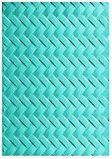 Sizzix Woven 3D Embossing folder #661261 MSRP $7.99 designer Lynda Kanase