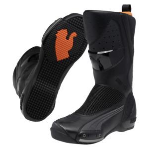 PUMA 500 Desmo GTX Gore-Tex motorcycle boots, black-orange-reflective, NEW!!!