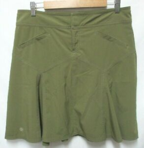 Athleta Whenever Skirt Fit & Flare olive pockets Size 8T 8 Tall