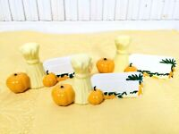 Vintage 1957 Pumpkins & Hay Name Place Card Table Settings/Buffet Thanksgiving