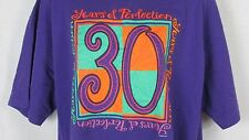 30 Years of Perfection 30th birthday age t shirt top XL Men Women unisex purple