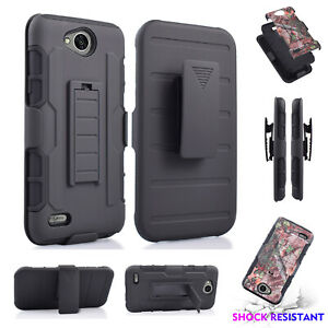 For LG X Power 2/X Charge/ Fiesta / K10P/ LV7 Hybrid Rugged Kickstand Tough Case