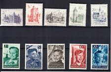 Nederland 568 - 577 Jaargang 1951 smetteloos postfris